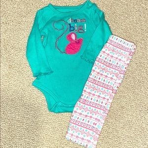Baby girl long sleeve outfit